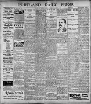 PORTLAND DAILY PRESS._ ESTABLISHED JUNE 28, 1882-VOL 37. PORTLAND. MAINE, FRIOAY MORNING, MARCH 3, !'««»»■_ PRICK THREE...