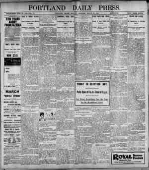 PORTLAND DAILY PRESS. ESTABLISHED JUNE 23. 1SB2-VOL. 37. PORTLAND. MAINE. MONDAY MORNING, MARCH 6. 1899._fgtegBHjjB_PRICE...