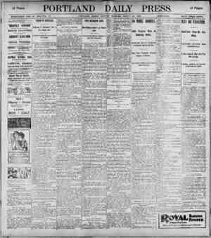 i2 Pag,, PORTLAND DAILY PRESS. ESTABLISHED JUNE 23. 18K2-VOL. 37. PORTLAND, MAINE, MONDAY MORNING, MARCH 20, 1890....