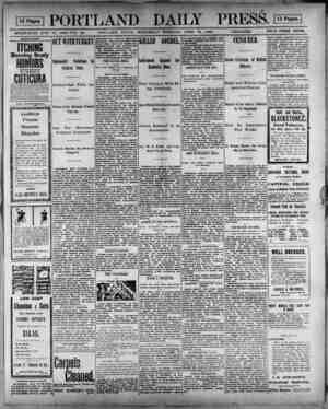 OS PORTLAND DAILY PRESS. OS ESTABLISHED JUNE 23, 1362—YOL. 33. PORTLAND, MAINE, WEDNESDAY MORNING, APRIL 18, 1900....