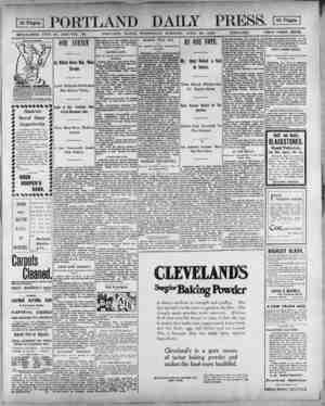S PORTLAND DAILY PRESS. 1 ! ESTABLISHED JUNE 23, 1862-VOL 38. PORTLAND MAINE, WEDNESDAY MORNING, APRIL 25, 1900. ICTRAVSHSl