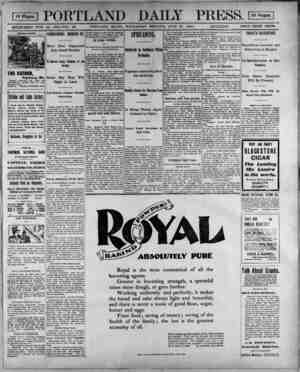 ES PORTLAND DAILY PRESS. DS ESTABLISHED JUNE 23, 1862-VOL. 39. PORTLAND, MAINE, WEDNESDAY MORNING, JUNE 27, 1900....