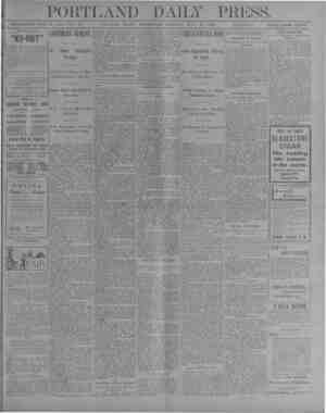s PORTLAND DAILY PRESS. ESTABLISHED JUNE 23, 1862—VOL. 39. PORTLAND, MAINE, WEDNESDAY MORNING, JULY 25, 1900. iSZS'Si.f.YSi