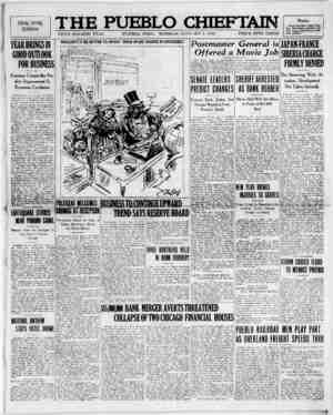 The Pueblo Chieftain Gazetesi 3 Ocak 1922 kapağı