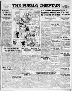 The Pueblo Chieftain Gazetesi 4 Ocak 1922 kapağı