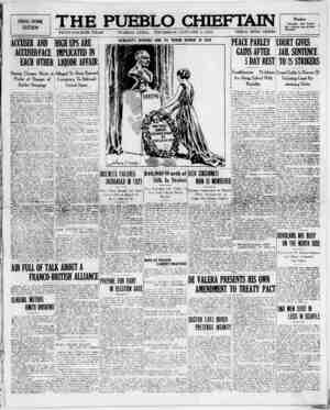 The Pueblo Chieftain Gazetesi 5 Ocak 1922 kapağı