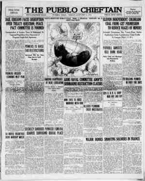 The Pueblo Chieftain Gazetesi 6 Ocak 1922 kapağı