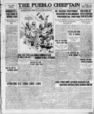 The Pueblo Chieftain Gazetesi 7 Ocak 1922 kapağı