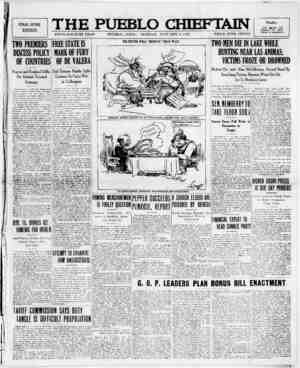 The Pueblo Chieftain Gazetesi 9 Ocak 1922 kapağı