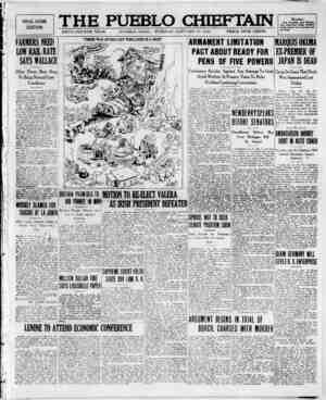 The Pueblo Chieftain Gazetesi 10 Ocak 1922 kapağı