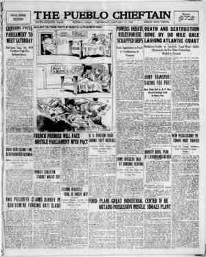 The Pueblo Chieftain Gazetesi 12 Ocak 1922 kapağı