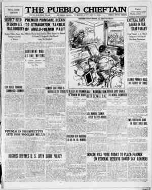 The Pueblo Chieftain Gazetesi 17 Ocak 1922 kapağı