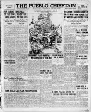 The Pueblo Chieftain Gazetesi 18 Ocak 1922 kapağı