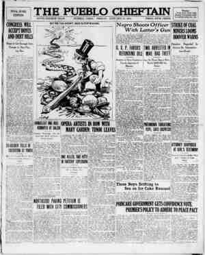 The Pueblo Chieftain Gazetesi 20 Ocak 1922 kapağı