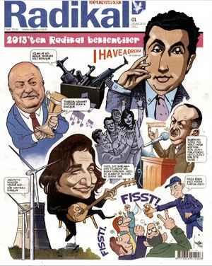 Radikal Gazetesi 1 Ocak 2013 kapağı