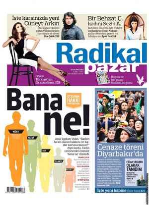 Radikal Gazetesi 13 Ocak 2013 kapağı