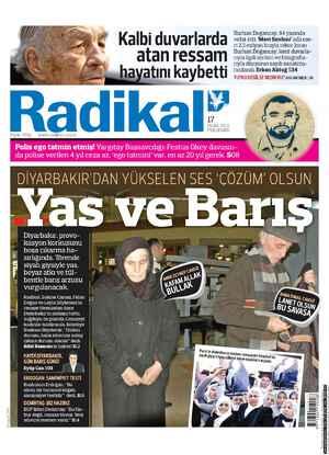 Radikal Gazetesi 17 Ocak 2013 kapağı