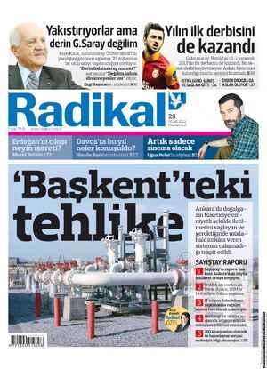 Radikal Gazetesi 28 Ocak 2013 kapağı