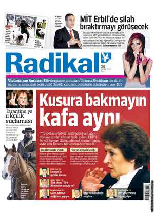 Radikal Gazetesi 29 Ocak 2013 kapağı