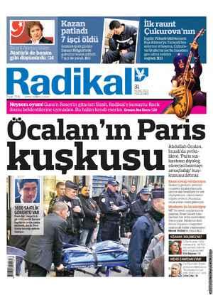 Radikal Gazetesi 31 Ocak 2013 kapağı