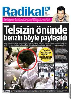 Radikal Gazetesi 1 Şubat 2013 kapağı