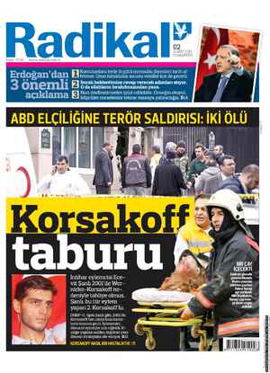 Radikal Gazetesi 2 Şubat 2013 kapağı