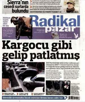 Radikal Gazetesi 3 Şubat 2013 kapağı