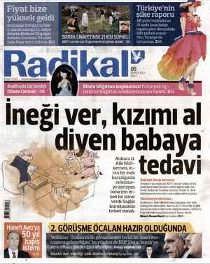 Radikal Gazetesi 5 Şubat 2013 kapağı
