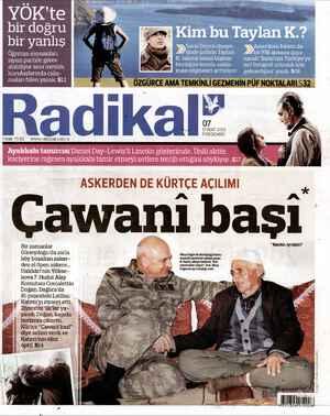 Radikal Gazetesi 7 Şubat 2013 kapağı