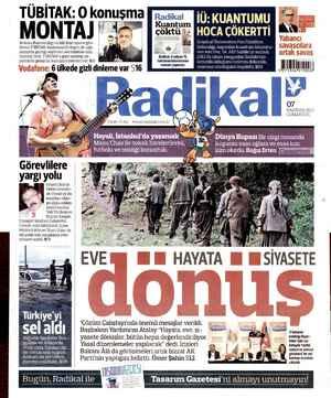 Radikal Gazetesi 7 Haziran 2014 kapağı