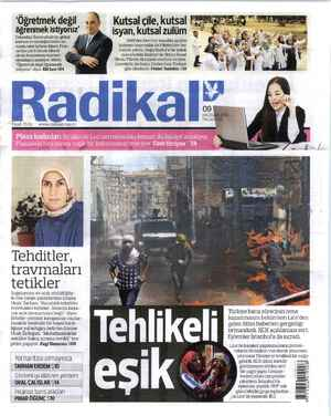 Radikal Gazetesi 9 Haziran 2014 kapağı
