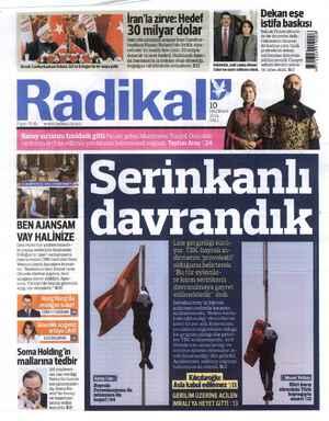 Radikal Gazetesi 10 Haziran 2014 kapağı