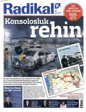 Radikal Gazetesi 12 Haziran 2014 kapağı