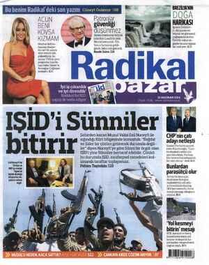 Radikal Gazetesi 15 Haziran 2014 kapağı