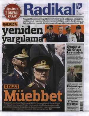 Radikal Gazetesi 19 Haziran 2014 kapağı