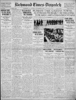 Richmond Times Dispatch Gazetesi 14 Kasım 1914 kapağı