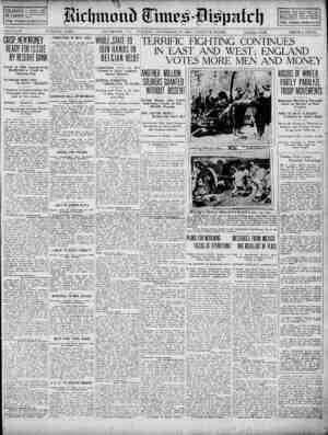 Richmond Times Dispatch Gazetesi 17 Kasım 1914 kapağı