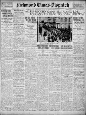 Richmond Times Dispatch Gazetesi 18 Kasım 1914 kapağı
