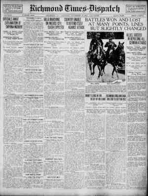 Richmond Times Dispatch Gazetesi 19 Kasım 1914 kapağı