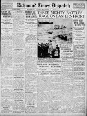 Richmond Times Dispatch Gazetesi 21 Kasım 1914 kapağı