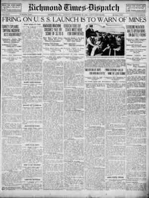 Richmond Times Dispatch Gazetesi 22 Kasım 1914 kapağı