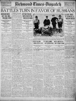 Richmond Times Dispatch Gazetesi 24 Kasım 1914 kapağı