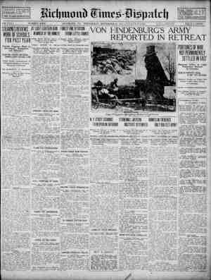 Richmond Times Dispatch Gazetesi 25 Kasım 1914 kapağı