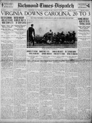 Richmond Times Dispatch Gazetesi 27 Kasım 1914 kapağı