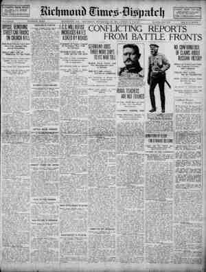 Richmond Times Dispatch Gazetesi 28 Kasım 1914 kapağı