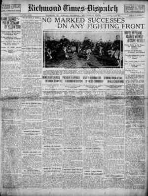 Richmond Times Dispatch Gazetesi 1 Aralık 1914 kapağı