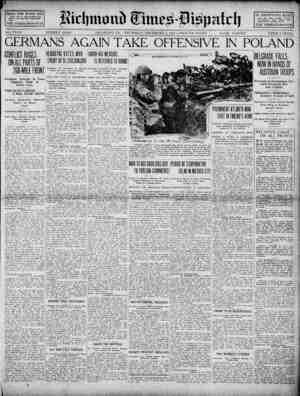 Richmond Times Dispatch Gazetesi 3 Aralık 1914 kapağı