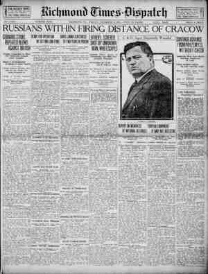 Richmond Times Dispatch Gazetesi 4 Aralık 1914 kapağı