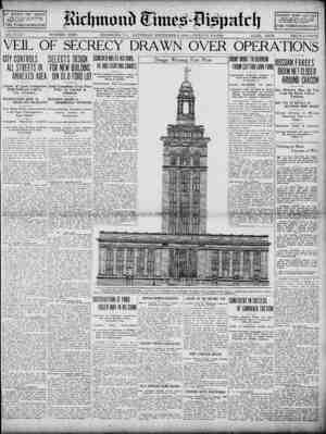 Richmond Times Dispatch Gazetesi 5 Aralık 1914 kapağı