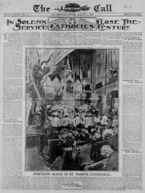 The San Francisco Call Gazetesi 1 Ocak 1900 kapağı